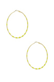 Lime Hoop Earrings