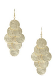 Gold-Tone Fish-Scale Earrings