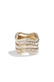 Gold-Tone Curve Ring Set