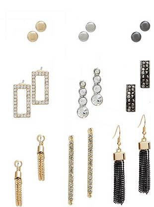 Emma Multi-Tone Earrings Set
