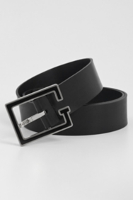 Black Enamel G Harness Belt