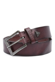 Basic Leather Silver-Tone Harness Belt
