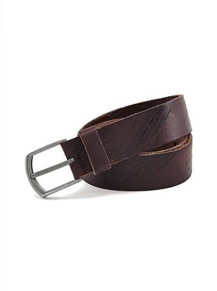 Embossed Leather and Harness Buckle Belt