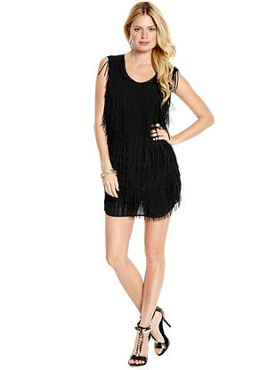 Channel the glamorous look of the '70s with this effortlessly stunning tunic dress. Layered fringe sways with every move, making an unbelievably sexy statement everyone will envy.