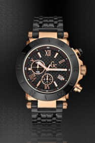 Gc-1 Black/Rose Gold Timepiece