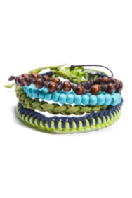 The Festival Collection - Blue and Green 4-Piece Bracelet Set