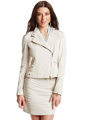 Mourielle Leather Moto Jacket