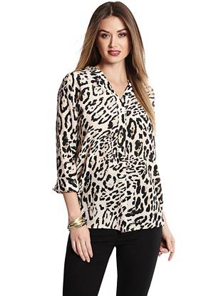 Luxurious silk and a trend-focused leopard print make this top the ultimate work-to-weekend power piece.