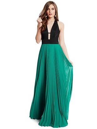 Saravia Pleated Maxi Dress