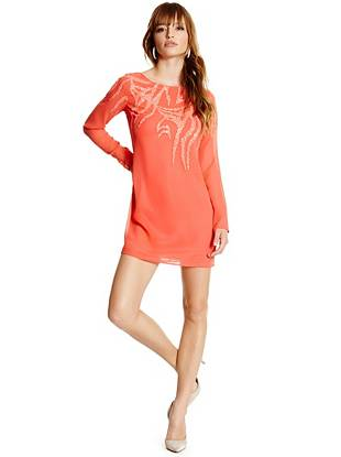 Lanette Embellished Tunic Dress
