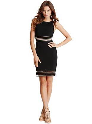 Stacey Mesh-Inset Dress