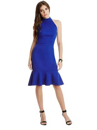 Club Dresses - Morgan Mock Flounce Dress