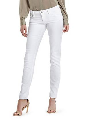 The Skinny No. 61 Beaded Jean in Optic White Wash
