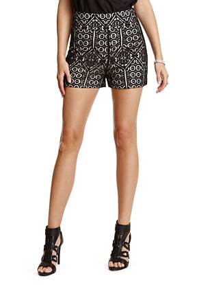 Massari High-Rise Lace Shorts