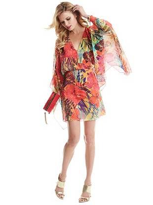 Hot House Hibiscus Kaftan Dress