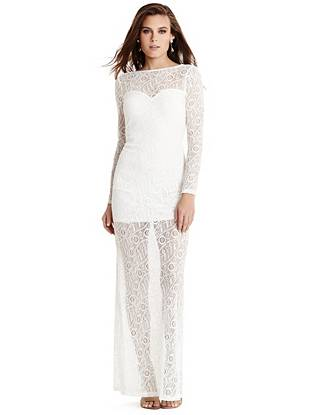 Maxi Winter Dresses - Melea Lace Maxi Dress