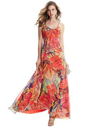 Hot House Hibiscus Maxi Dress