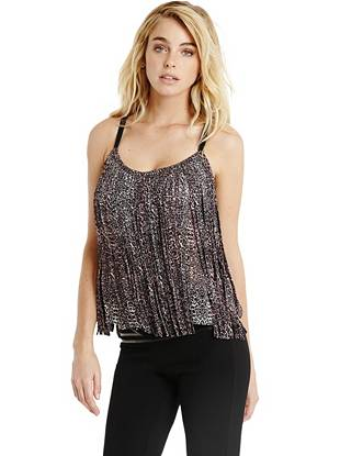Animal Print Tank Tops - Carnaby Fringe Top