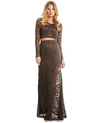 Maxi Winter Dresses - Kona Two-Piece Lace Dress