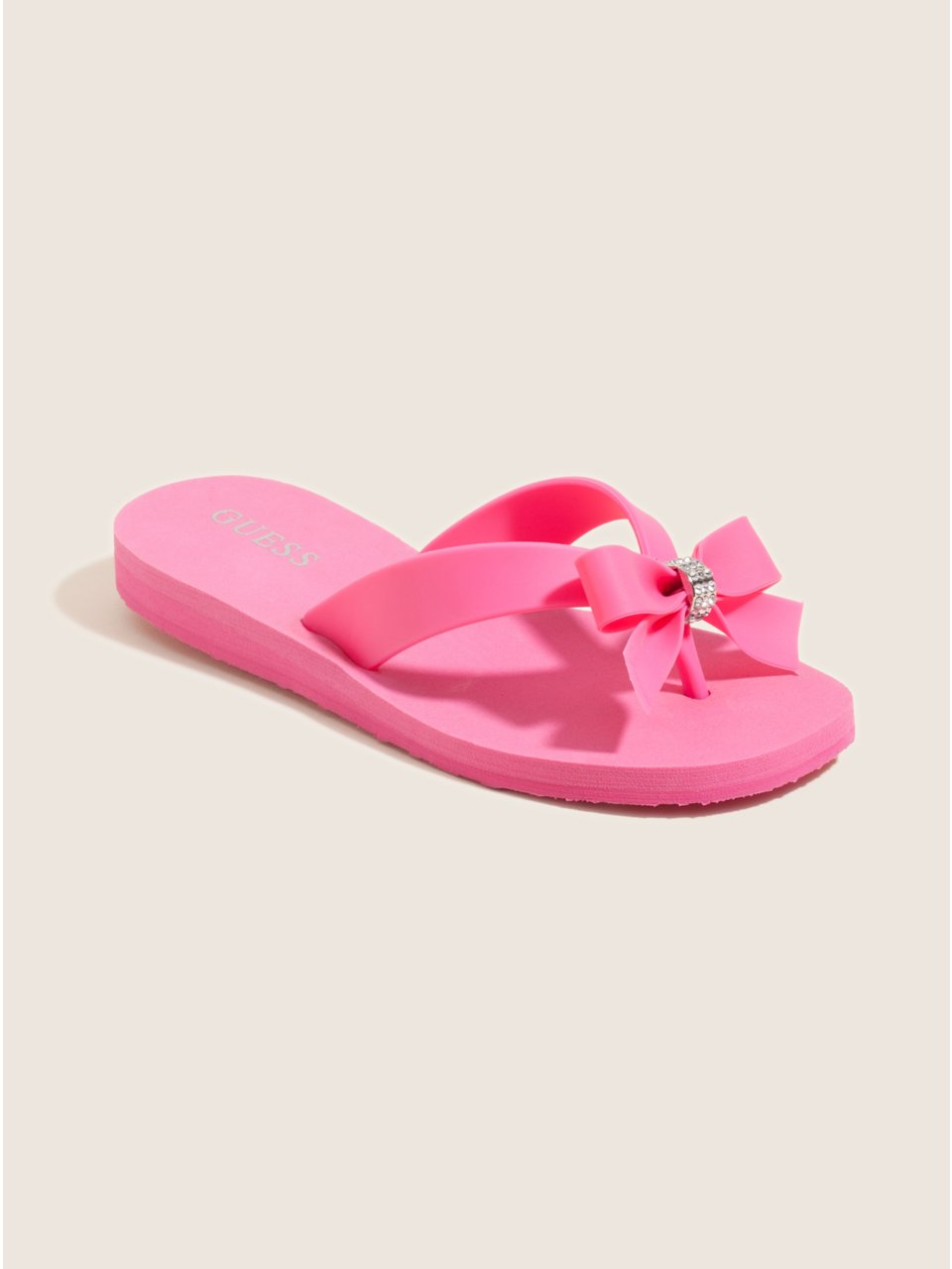 GUESS Kids Girls Big Girl Tutu Flip-Flops, PINK (4)