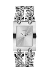 Stainless Steel Chain Bracelet Watch - Silver