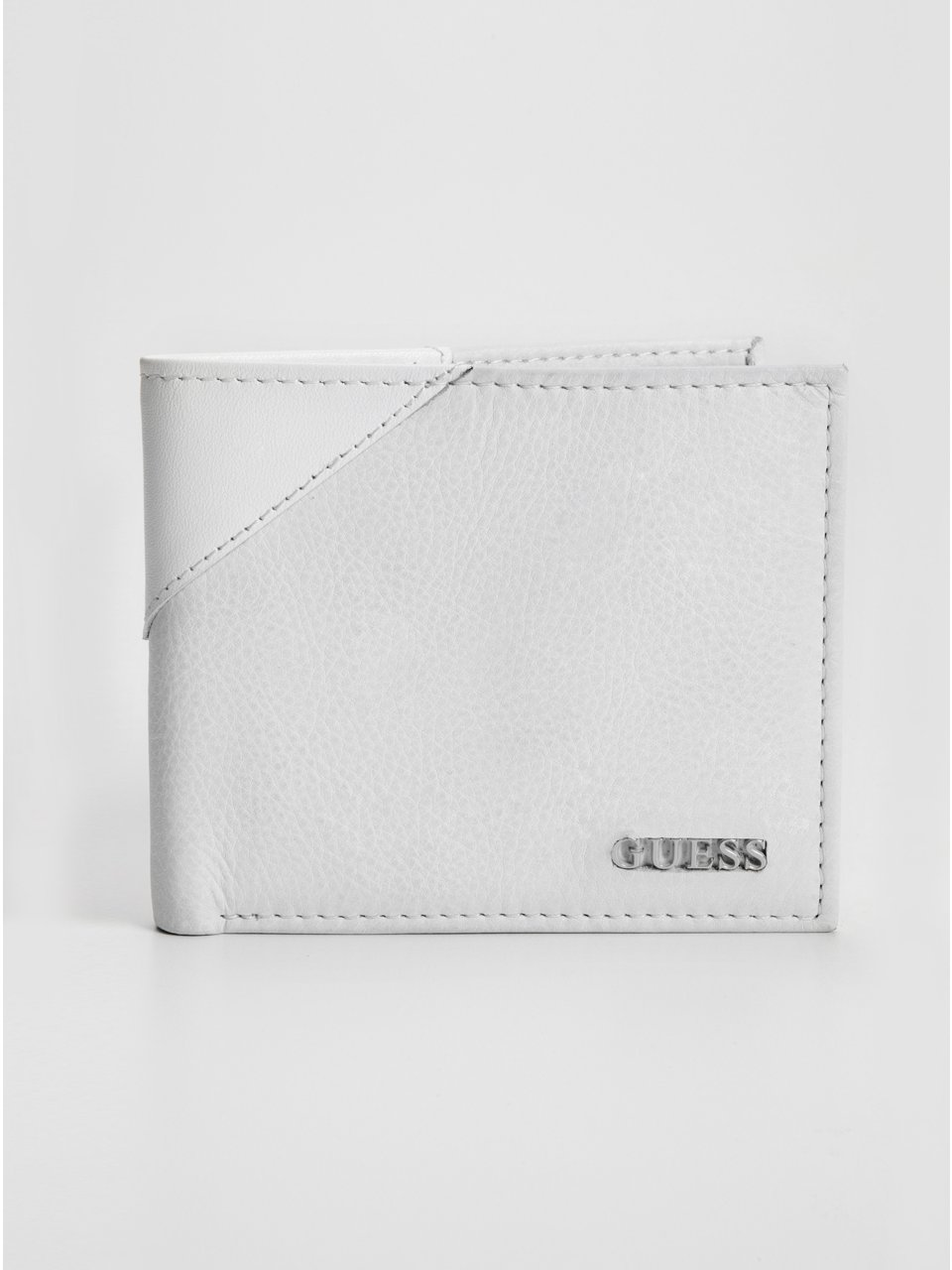 GUESS Cow Passcase Wallet, WHITE