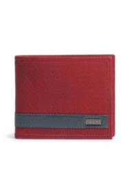 Red Nubuck Wallet