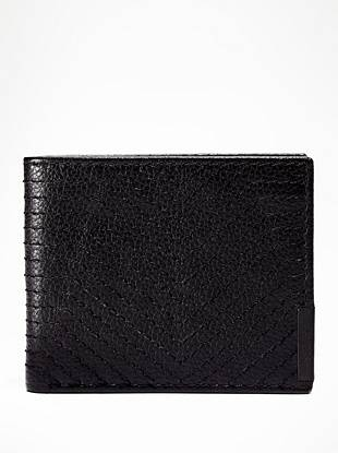 Do you take a sophisticated approach to style? Than this genuine leather wallet is the one for you. A textured exterior and sleek stitching deliver modern appeal to the classic design.