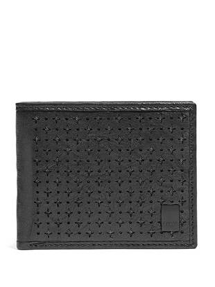 A modern interpretation of the classic billfold, this wallet is perfect for the forward-thinking guy. Laser-cut details add just the right amount of edge to the textured genuine leather design.
