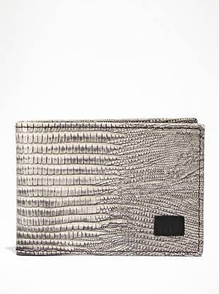 Bring masculine edge to your everyday looks with this snake-embossed billfold. Featuring 6 credit card slots and a single ID window, it's the perfect essential for every trend-conscious guy.