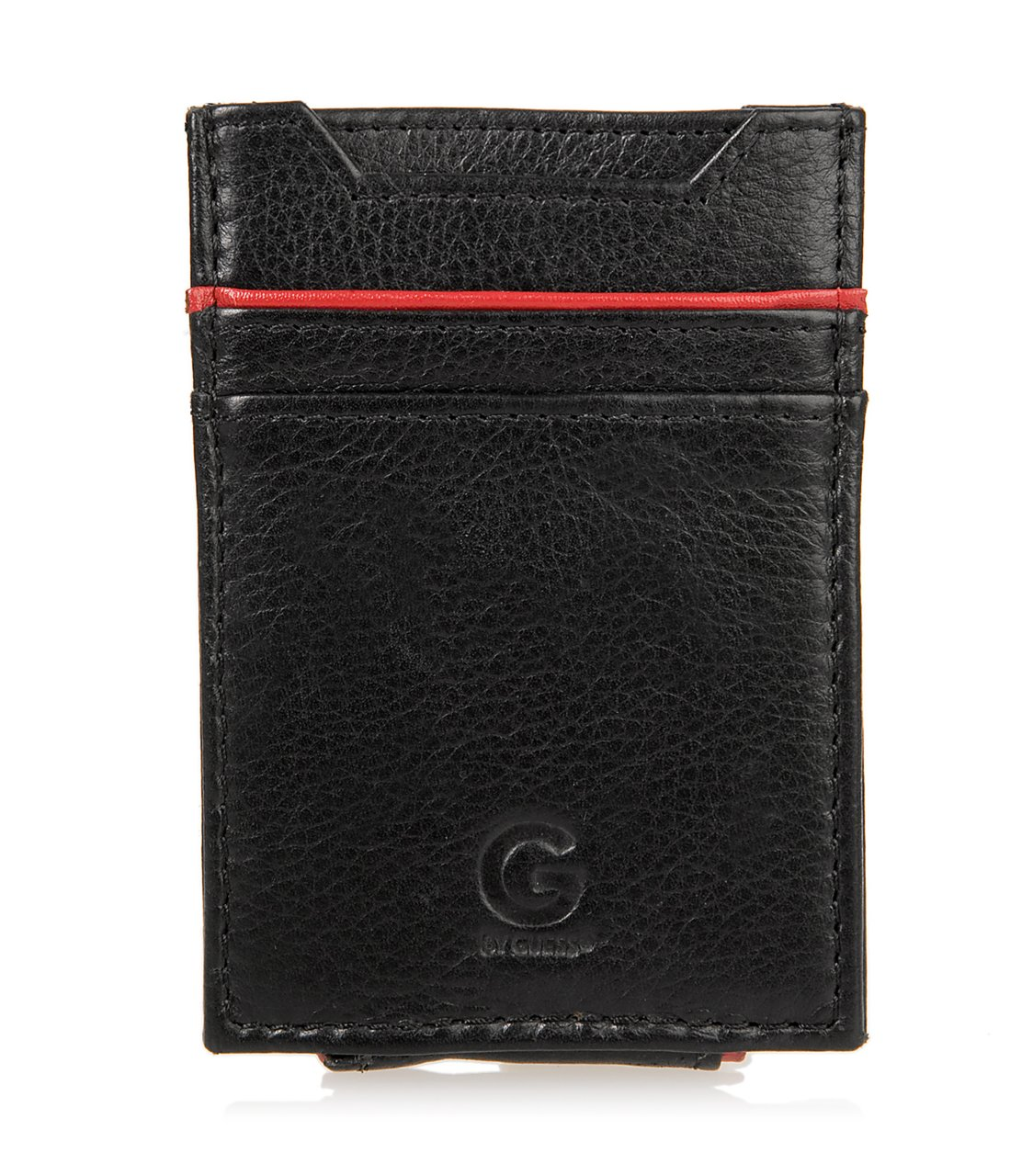 G by GUESS Front-Pocket Wallet with Money Clip, BLACK