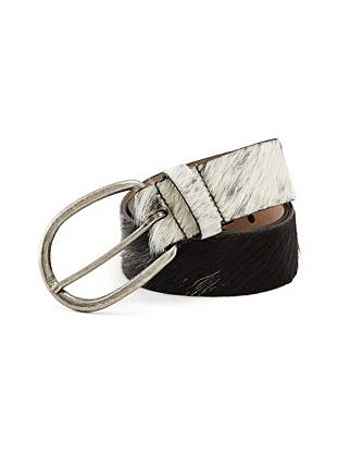 The perfect finish to your fall/winter style, this luxe haircalf belt is your new go-to accessory. Finished with antique-effect hardware, it delivers an authentic vintage look that's completely of the moment.