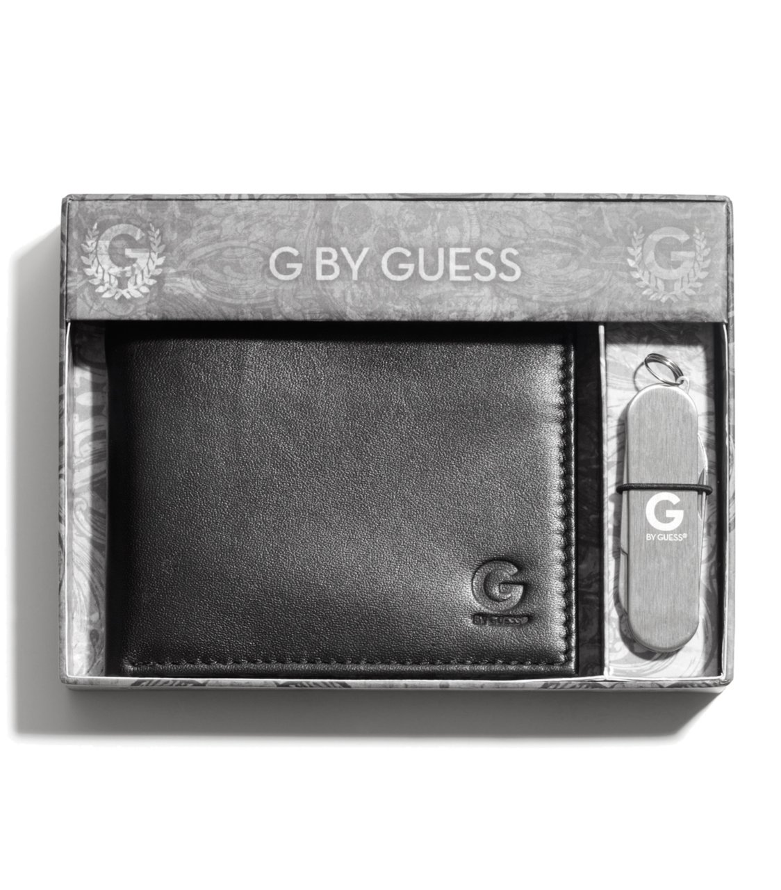 G by GUESS Gift Set With Pocket Knife, BLACK