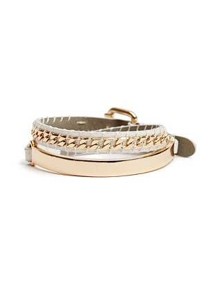 Effortlessly glamorous, this genuine leather wrap bracelet is a wear-everywhere essential. Stack it with contrasting metals for trend-perfect, boho-inspired appeal.