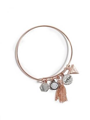 A modern mix of charms and metals make this bracelet a glamorous addition to your arm candy collection.
