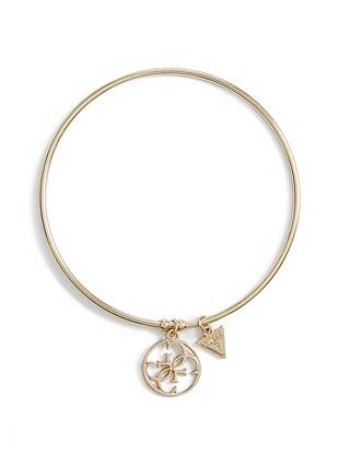 Gold-Tone Quattro G Charm Bangle