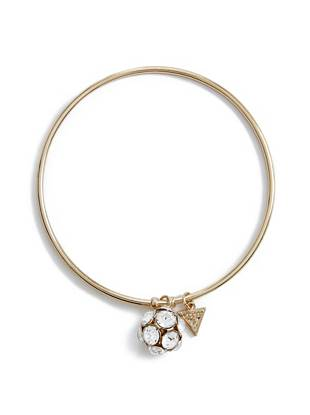 Gold-Tone Fireball Charm Bangle
