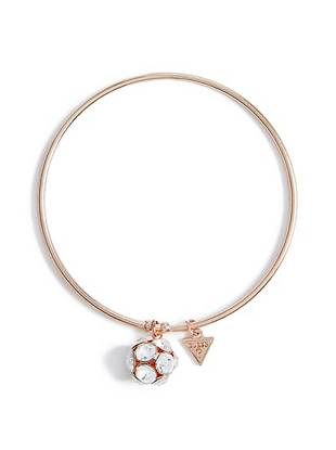 Rose Gold-Tone Fireball Charm Bangle