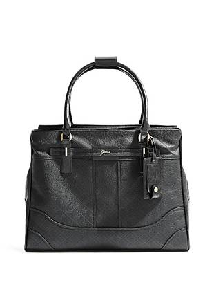 La Vida Logo Black Shopper Tote