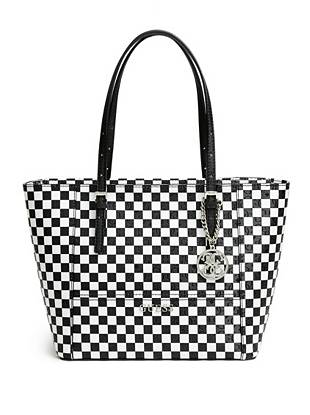 Delaney Checkered Small Classic Tote