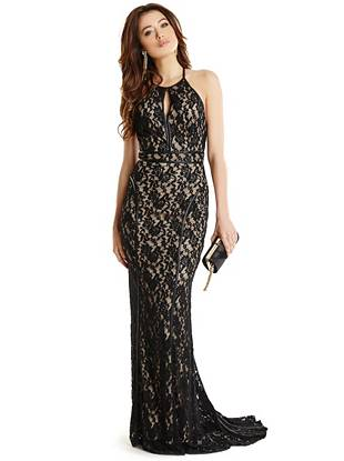 Maxi Winter Dresses - Kess Lace Maxi Dress