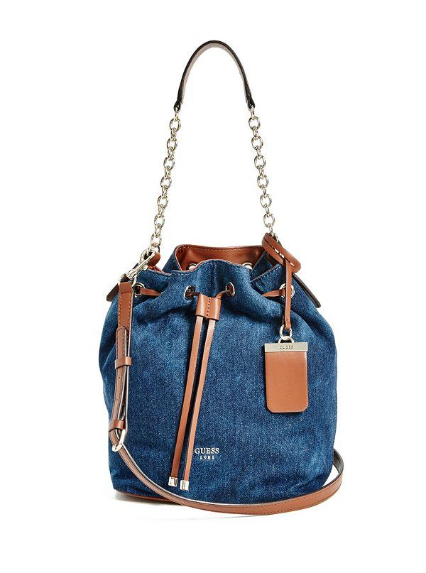 Camylle Denim Bucket Bag | GUESS.com