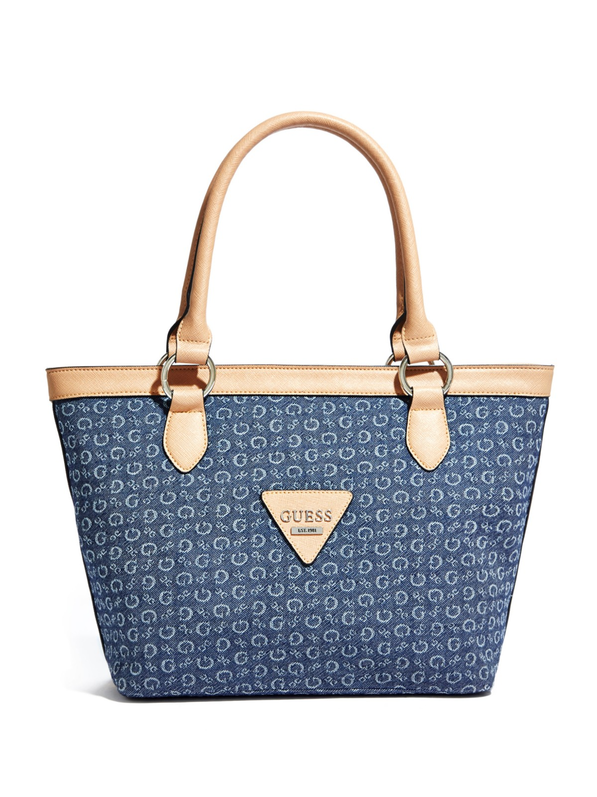 Guess Denim Handbag. GUESS Varsity Pop Shopper Denim.