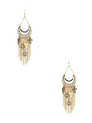 Fashion packed and full of glamour, these chandelier earrings are a surefire way to make a statement. Featuring dazzling rhinestones, mixed charms and trend-forward fringe, they're one of our top picks this season.