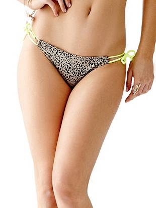 Cheetah-Print Side-Tie Bikini Brief Bottoms