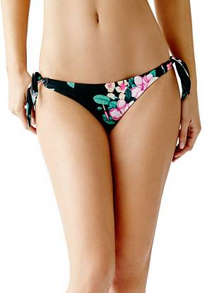 Floral Side-Tie Brazilian Bikini Bottoms