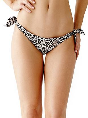 Leopard-Print Side-Tie Brazilian Bikini Bottoms