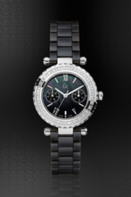 Gc DIVER CHIC® Diamond Black Ceramic Timepiece
