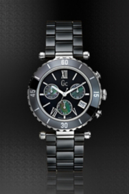 Gc Diver Chic Black Ceramic Chronograph Timepiece