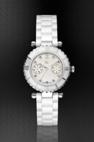GC DIVER CHIC Diamond Dial White Ceramic Timepiece